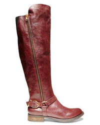 Burgundy knee high boots original 1548087