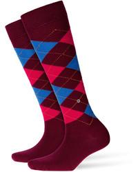 Burgundy Knee High Socks