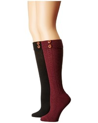 Steve Madden 2 Pack Button Cable Knee High Knee High Socks Shoes