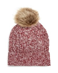 Sole Society Cable Knit Beanie With Faux
