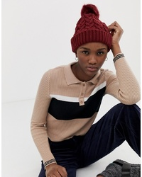 ASOS DESIGN Cable Knit Faux Beanie