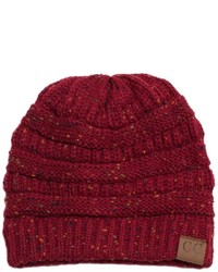 Cc burgundy confetti beanie medium 6860826