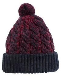 Knit Beanie Hat Bluered Muk Luks