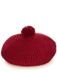 Gucci Pompom Cotton Knit Beret