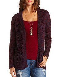 e22f29efe2 ... Charlotte Russe Marled Open Knit Cardigan Sweater