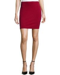 Textured knit skirt burgundy medium 158056