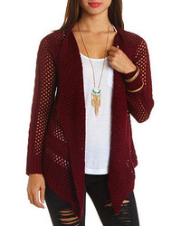 b535e77fe0 Charlotte Russe Cable Ribbed Duster Cardigan Out of stock · Charlotte Russe  Cable Striped Open Knit Cascade Cardigan Sweater