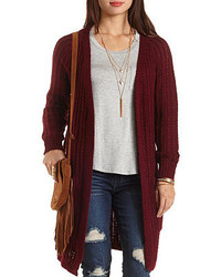 Charlotte Russe Slub Knit Duster Cardigan Sweater | Where to buy ...