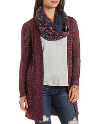 Charlotte Russe Marled Open Weave Cardigan