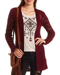 aa2932182d Charlotte Russe Slub Knit Pointelle Cardigan Sweater Out of stock · Charlotte  Russe Open Front Pointelle Cardigan Sweater