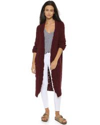Hand knit worn sweater coat medium 321980