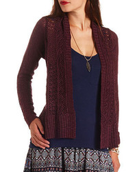 1e8946bb1e Charlotte Russe Slub Knit Duster Cardigan Sweater Out of stock · Charlotte  Russe Solid Sleeve Pointelle Cascade Cardigan Sweater