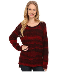 Ombre cable crew neck sweater medium 450646