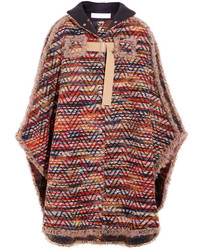 See by Chloe See By Chlo Boucl Knit Cape Burgundy