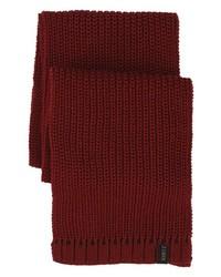 A. Kurtz Dotter Knit Scarf Dark Red One Size