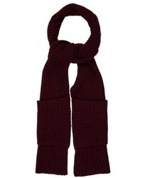Autumn Cashmere Burgundy Knit Scarf