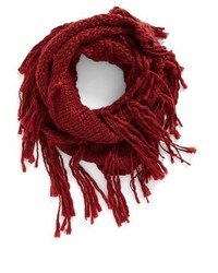 Chunky knit fringe scarf medium 951962