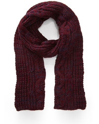 Forever 21 Marled Cable Knit Scarf