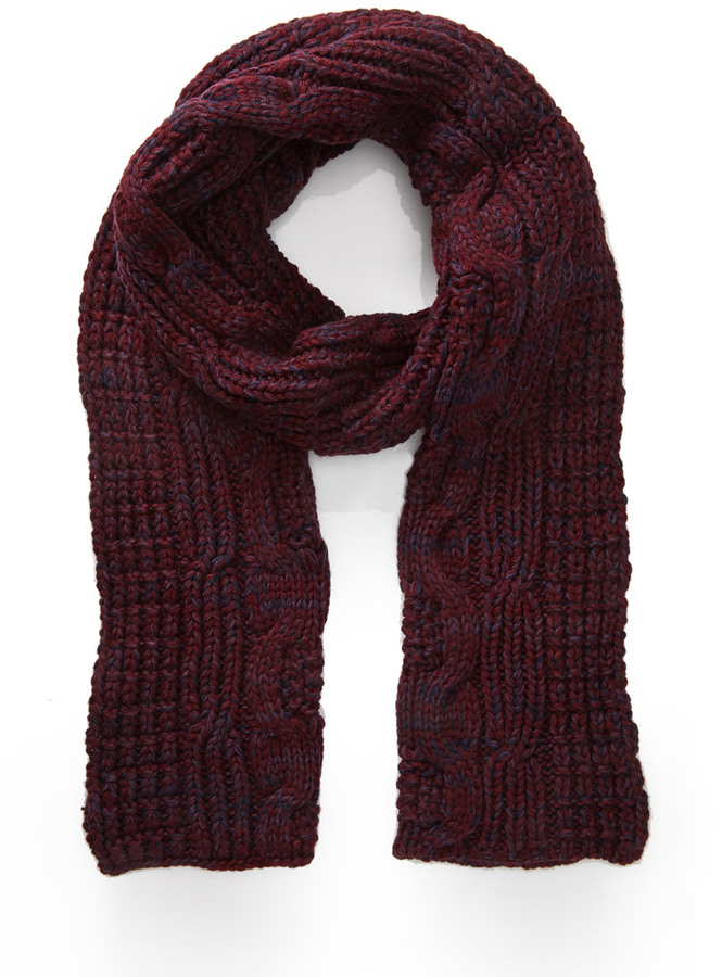 Forever 21 Marled Cable Knit Scarf Where To Buy How To Wear
