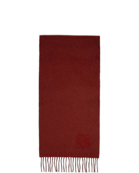 Loewe Red And Grey Anagram Scarf