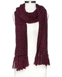 Mossimo Supply Co Solid Knit Fringe Scarf
