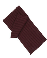 T.M.Lewin Burgundy Chunky Knit Scarf