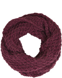 Topshop Textured Knit Snood With Diamond Stitch Detail 87% Acrylic 13% Nylon Machine Washable
