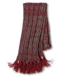 Under One Sky Cable Scarf Redgray Under One Sky