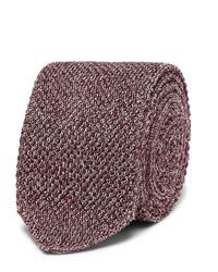 Ermenegildo Zegna 6cm Mlange Knitted Silk Tie