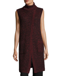 Ming Wang Sleeveless Turtleneck Knit Tunic