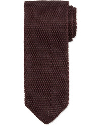Tom Ford Textured Knit Tie Wine