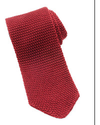 Tom Ford Thin Striped Knit Tie Red