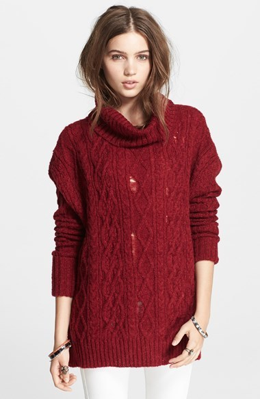 Free People Complex Cable Knit Pullover