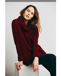 Free People Love Worn Cable Turtleneck