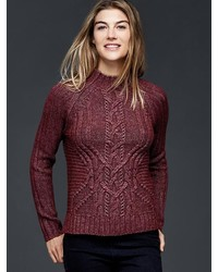 Gap Mockneck Cable Knit Sweater