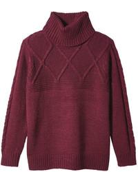 Joe Fresh Knit Turtleneck Sweater Light Blue