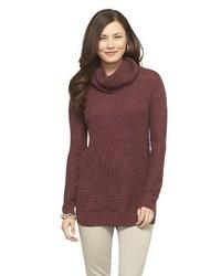 Merona Chunky Tunic Cowl Neck Sweater