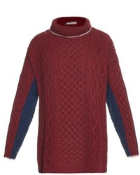 Preen Line Grace Cable Knit Wool Blend Sweater