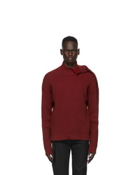 Y/Project Red Clipped Shoulder Turtleneck