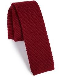 Michael Bastian Michl Bastian Solid Knit Wool Skinny Tie