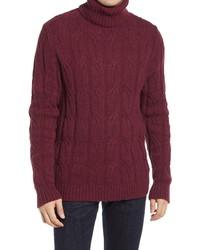 Benson Alpaca Blend Cable Turtleneck Sweater