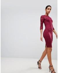 AX Paris 34 Sleeve Lace Midi Dress