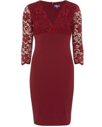Amy Childs Mabel Claret Lace Bodycon Dress
