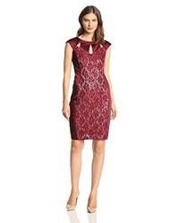 Jax Cap Sleeve Cutout Lace Dress
