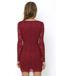 a3b42537de5 ... LuLu s Entwine And Dine Wine Red Lace Dress ...