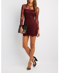 Eyelash lace bodycon dress medium 6465836