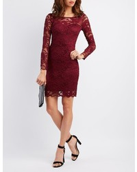 Charlotte Russe Floral Lace Bodycon Dress