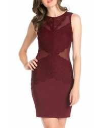 Hello miss burgundy bodycon dress medium 6465834