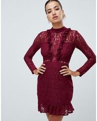 AX Paris Long Sleeve Lace Skater Dress