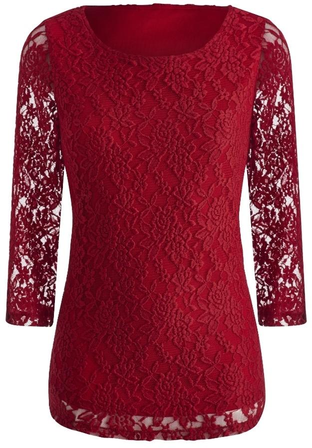 96e2a185ff6 Joanna Hope Lace Tunic, $64 | Simply Be | Lookastic.com